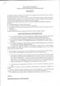 REGLEMENT INTERIEUR PAGE 1 001