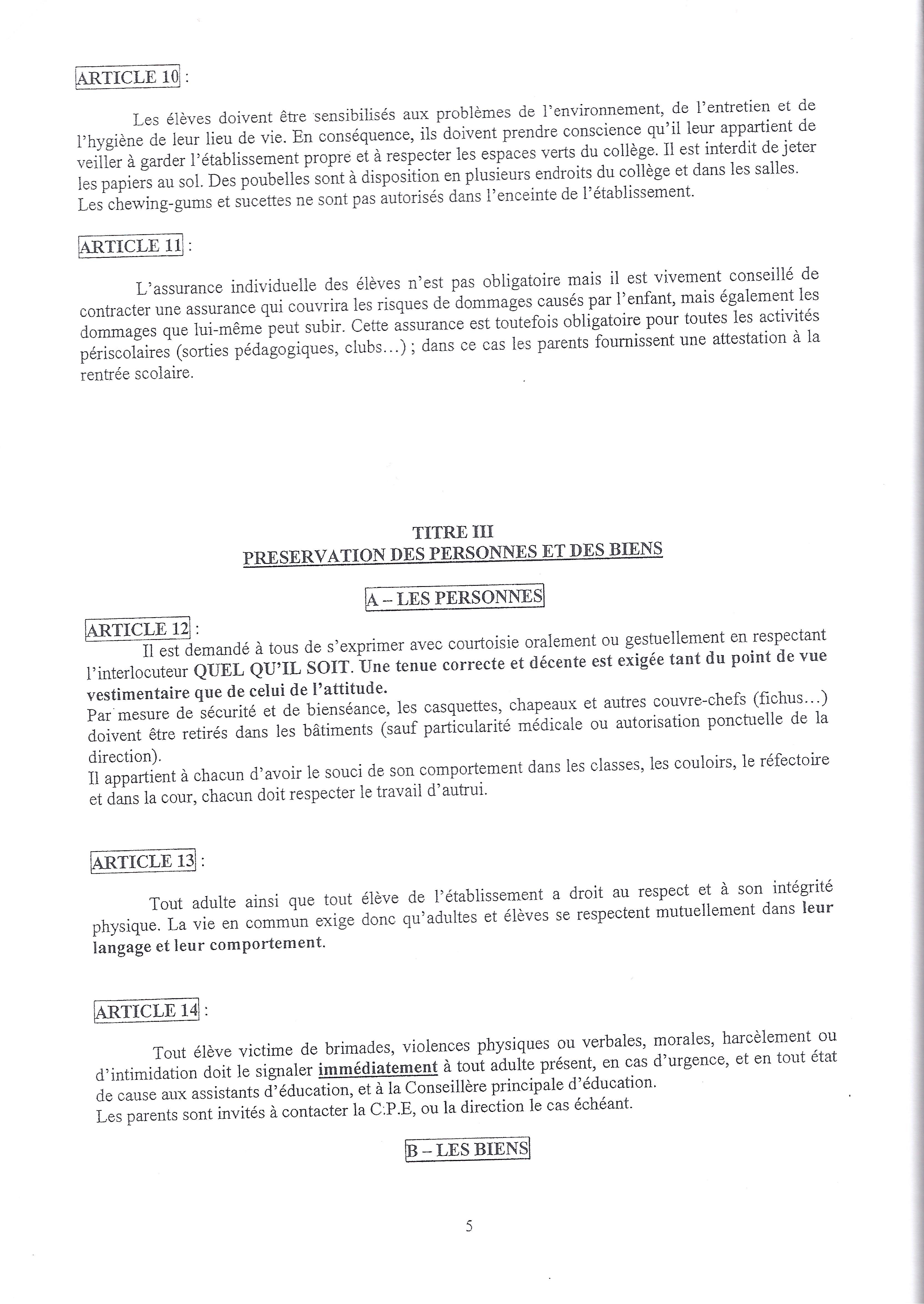 Rentree apecliancourt for Exemple reglement interieur association