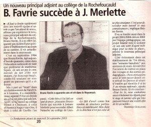 B.Favrie succède à J.Merlette 001