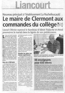 Le maire de Clermont aux commande du collège 001
